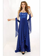 Вечернее платье с кружевным лифом на корсете