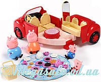 """Набор с машинкой Свинка Пеппа/Peppa Pig """"Машина для пикника"""": 4 фигурки + принадлежности для пикника"""