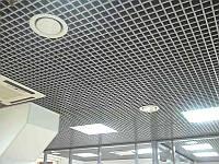 Потолок грильято 100*100*30 оцинкованный белый /черный /металлик /сатин