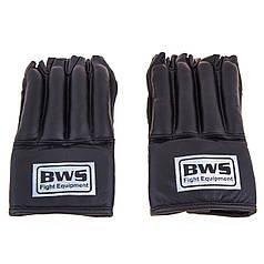 """Перчатки """"сосиски"""" BWS  кожа черные MA-BWS"""