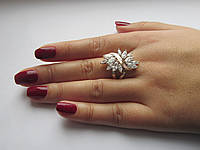 "Серебряное кольцо с золотыми пластинами""Жар-птица"", фото 1"