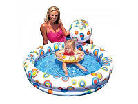 Детский надувной бассейн интекс с набором (круг,мяч)