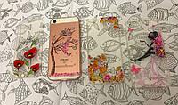 TPU чехол накладка для Apple iPhone 5 / 5S / SE (4 вида)