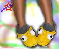 Домашние тапочки-сапожки  детские Симпсоны