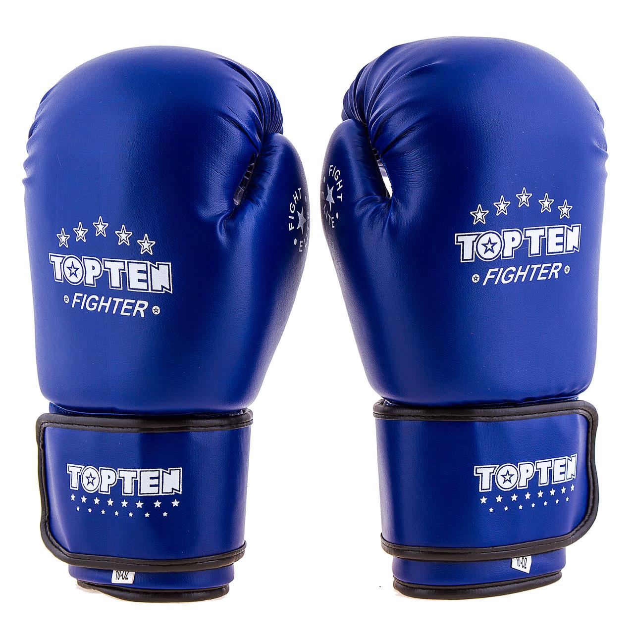 Перчатки боксерские TopTen синие DX TT3148-8B