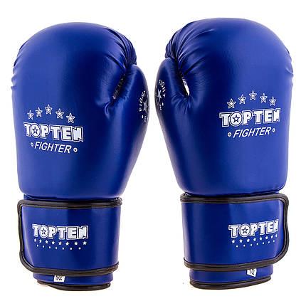 Перчатки боксерские TopTen синие DX TT3148-8B, фото 2