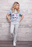 Женские молодежные штаны-лосины с бусинами в расцветках