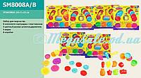 Тесто для лепки (пластилин для лепки) Play Toy 8008: 4 цвета + 8 штампов