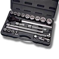 """Профессиональный набор инструмента 3/4"""", 20 ед (гол. 19-50 мм) пластиковый кейс INTERTOOL ET-6023, фото 1"""