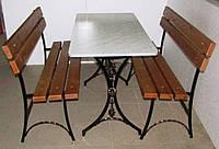 Садовый комплект (стол + 2 скамейки)