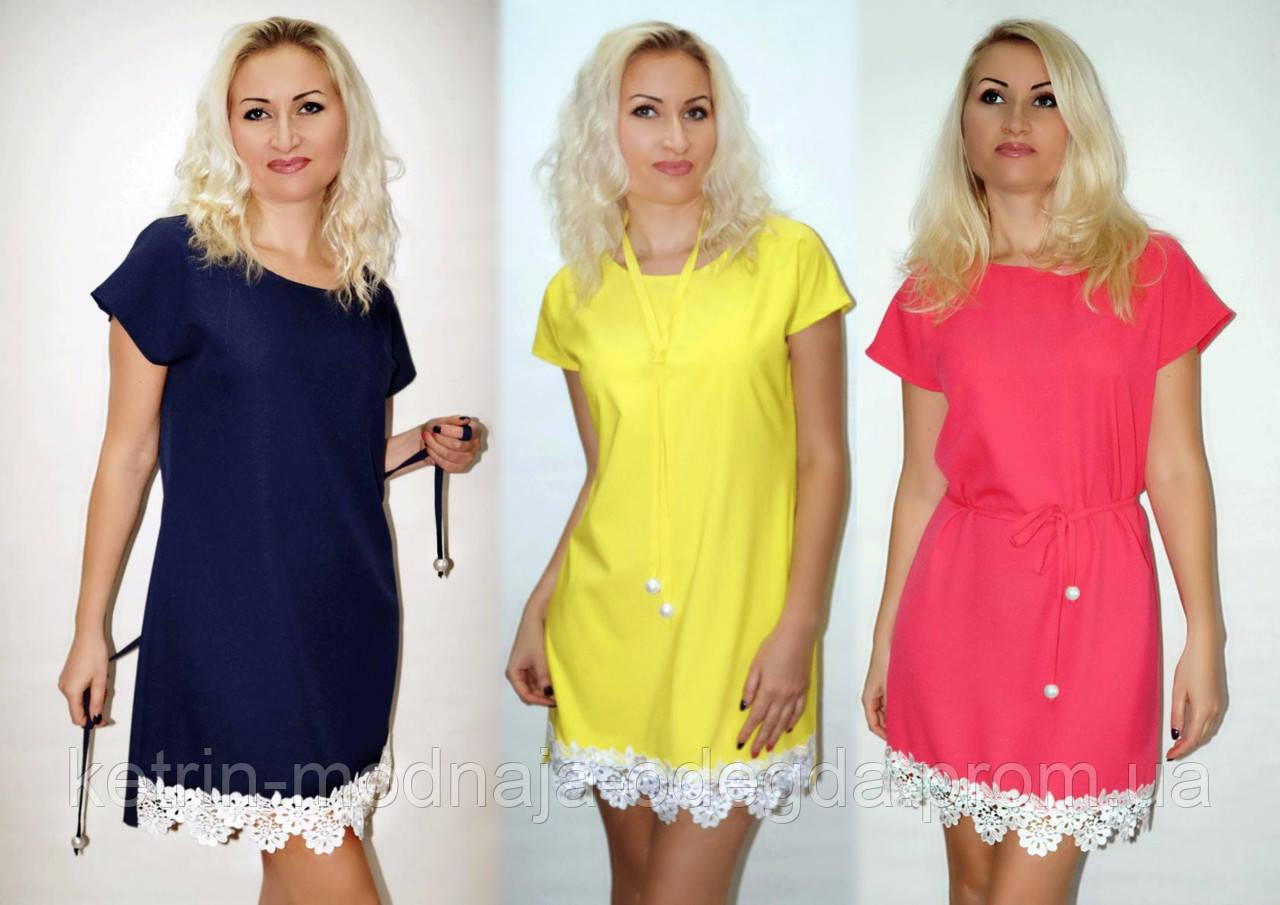 dcc0772ce72 Нарядное летнее женское платье с кружевом в расцветках