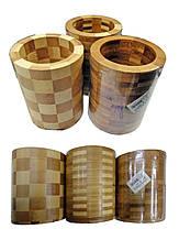 Подставка - стакан HYG560 БАМБУК  диаметр 10см., высота 12см., толщина стенок 12мм.