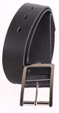 Универсальный черный мужской ремень Topgal 4 см