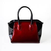 Красная женская сумка лаковая фигурной формы