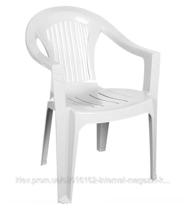Кресло Irak Plastik Bahar EKO белое пластиковое