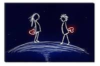 Светящиеся картина Startonight Двое Любовь Абстракция Печать на Холсте Декор стен Дизайн дома Интерьер