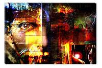 Светящиеся картина Startonight Лицо Мужчины Абстракция Печать на Холсте Декор стен Дизайн дома Интерьер