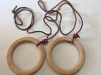Кільця гімнастичні дерев'яні (дитячі) діам. 17,5 див., фото 1