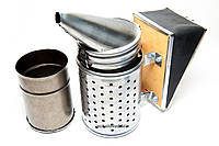 Дымарь пасечный со съемным мехом с ограждением, окрашенный порошковой краской , фото 1