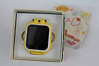 Детские умные часы Q200. (3G+GPS+камера 2.0 мП).   Желтые, Желтые, Желтые