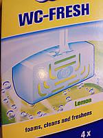 Освежитель для унитаза Лимонная Свежесть W5  WC Sticks 4 шт