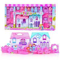 Кукольный дом 589-30 с куклами, мебелью, батар.муз.свет