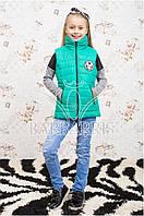 Модный утепленный жилет для девочки Mix в ассортименте
