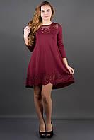 Платье Летиссия бордовый,скл 5