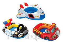 Детский надувной круг intex 59586 пожарная машина и самолёт ( от 55 до 79 см.)