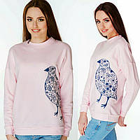 """Жіночий світшот з вишивкою """"Пташка"""", фото 1"""