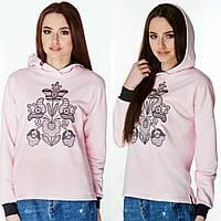 Стильний худі рожевого кольору для дівчат, фото 1