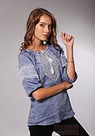 Стильна вишиванка для жінок в стилі джинс, фото 1