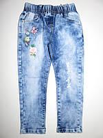 Джинсовые брюки для девочек Seagull оптом, 98-128 рр.