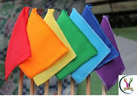 Флажки цветные детские, сигнальные на деревянной палочке
