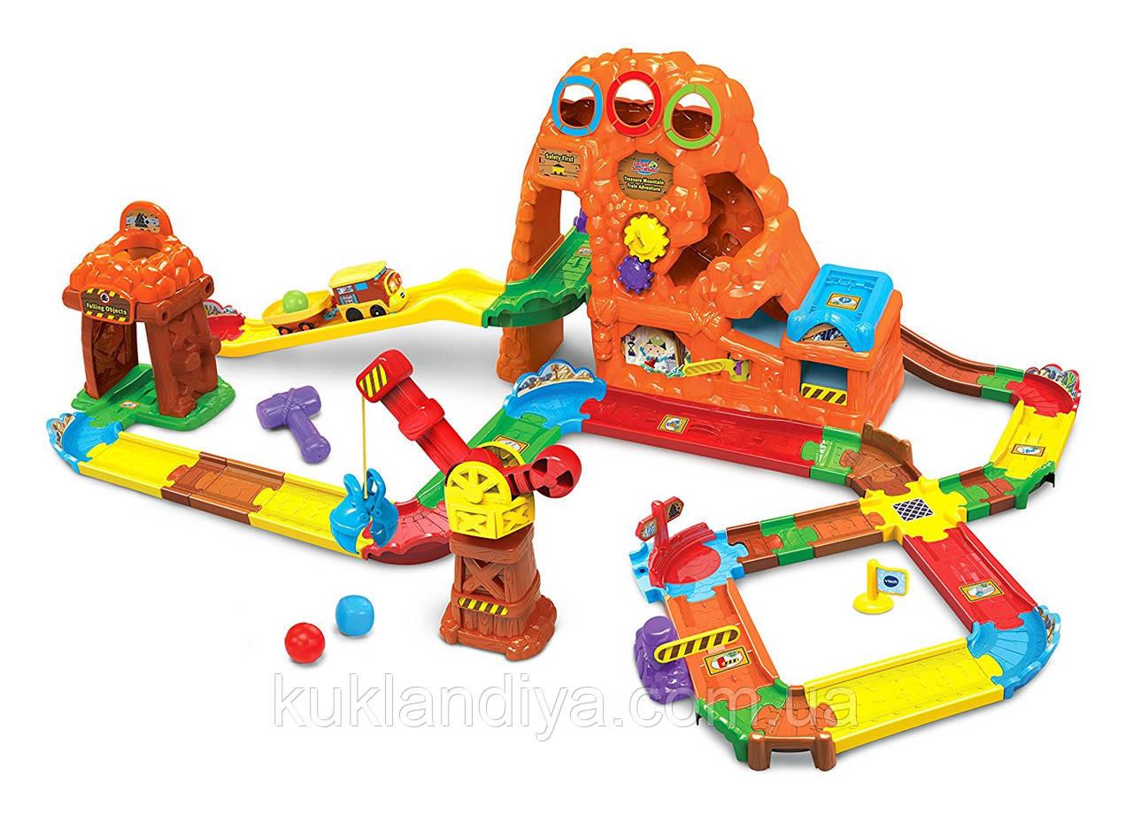 VTech Go! Go!  Железная дорога со звуковыми эффектами Smart Wheels Treasure Mountain Train Adventure