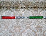 """Ткань хлопковая """"Дамаск белый на коричневом"""" № 641, фото 2"""