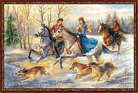 """Набор для вышивания крестом Риолис """"Русская охота"""" 1639"""