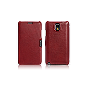 Чехол iCarer для Samsung Galaxy Note 3 Luxury Red (side-open)