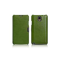 Чехол iCarer для Samsung Galaxy Note 3 Luxury Green (side-open)