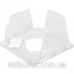 Бокс под бумагу для заметок 9х9х4,5 пластиковый прозрачный