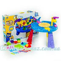 Игровой набор для лепки Мороженное 8724 со столиком: 5 цветов + 2 пресса + аксессуары