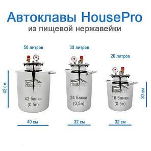 Автоклав HousePro-16 из пищевой нержавейки 16 пол литровых банок (7 литровых), фото 2