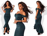 Женское длинное вечернее платье с декольте