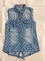 Джинсовая рубашка для девочек S&D 8-16 лет.