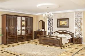 Спальный гарнитур на 6 предметов мебели. Модель Алабама с 6-ти дверным шкафом