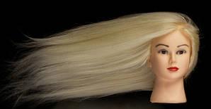 Учебный манекен для причесок Julie 75-80 см, блонд,  100% натуральных азиатских волос
