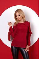 Бордовая женская  блузка Талила