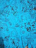 XL Бриджи PRICE с надписями и рисунком бирюза, фото 6