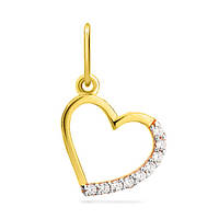 Золотой кулон Сердце