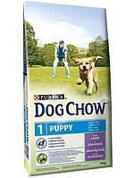 Dog Chow Puppy корм для щенков всех пород с ягненком, 14 кг